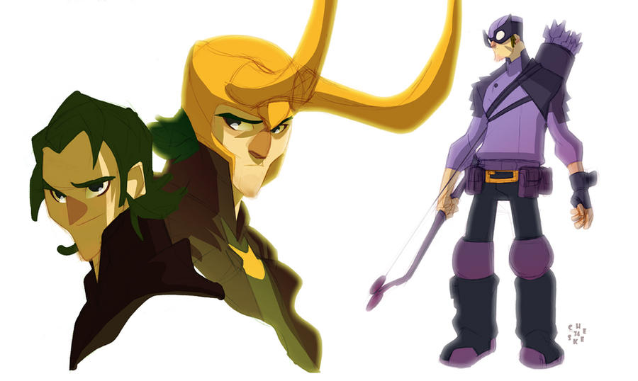 Avengers: Hawkeye by cheeks-74