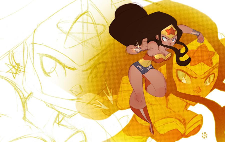 Wonder Woman's new dance step by cheeks-74