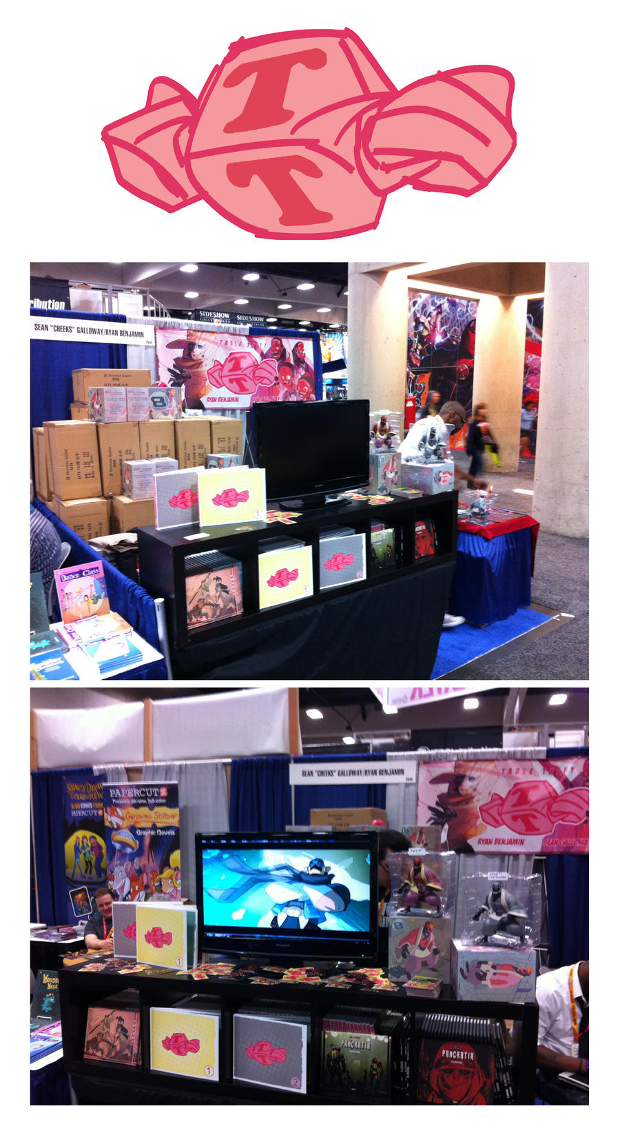 Booth set-up @Comic Con! by cheeks-74
