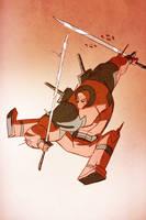 Deadpool slicing some cheeks by cheeks-74