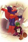 Beastboy and Superman in Neko-Neko Caper!