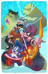 Avengers chibi commission!