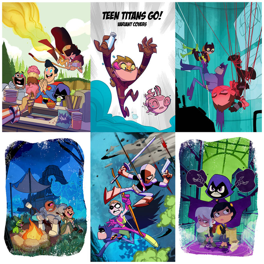 Teen Titans Go! variant covers