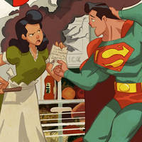 Superman and Lois by cheeks-74