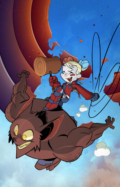 Harley Quinn Variant cover by cheeks-74