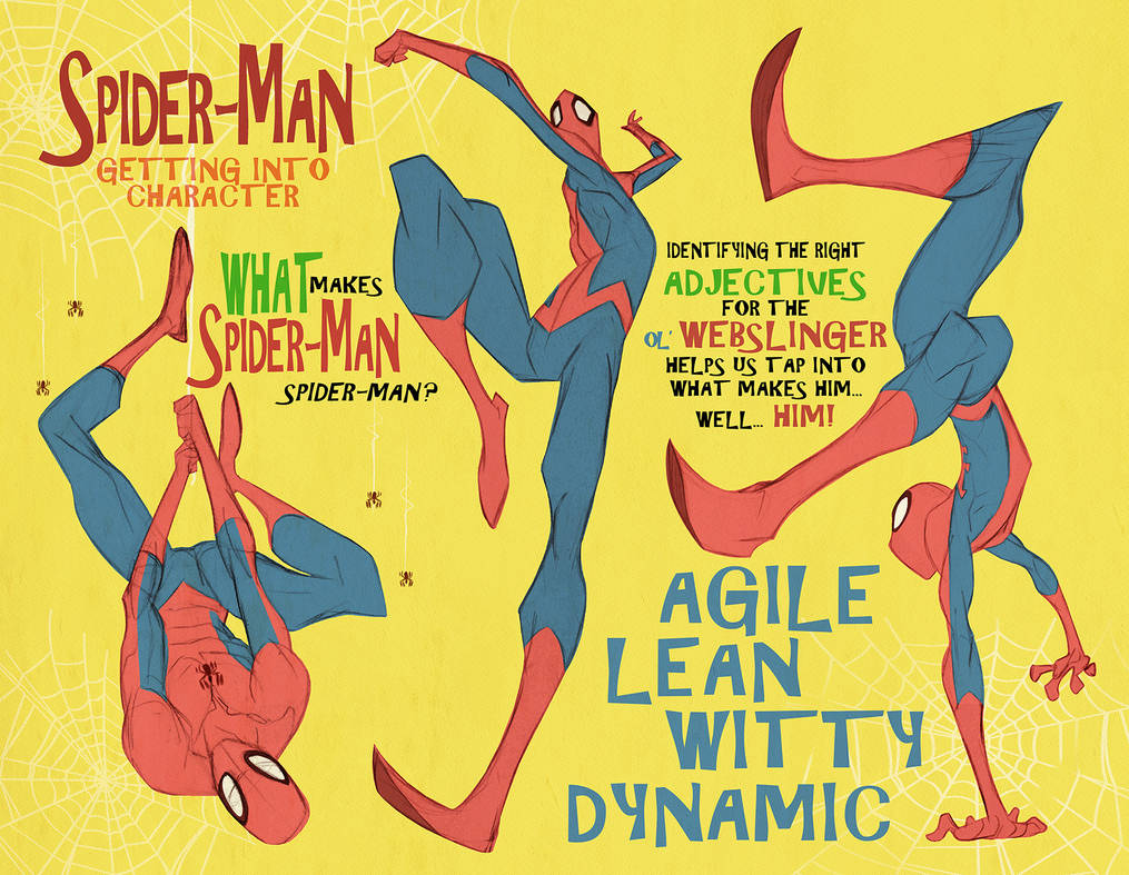 Spider-man poses1 of 3 pages by cheeks-74