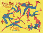Spider-man poses: 2 of 3 pages