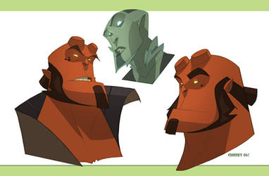 hellboy and abey-poo heads by cheeks-74