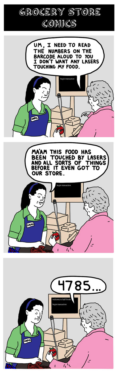 Grocery Store Comics by bobbymono