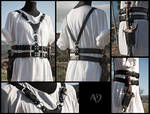 Black leather Harness + Weapon Holsters