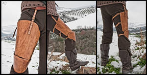 Leather Thigh Protection for Historical Fencing