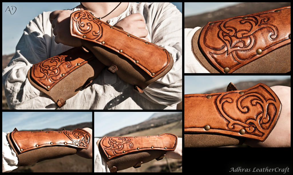 Renaissance Style Leather Bracer by Adhras