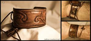 Tooled Leather Cuff 1
