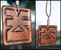 Khorne Leather Symbol by Adhras