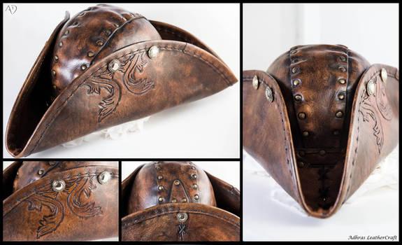 Leather Tricorn Hat