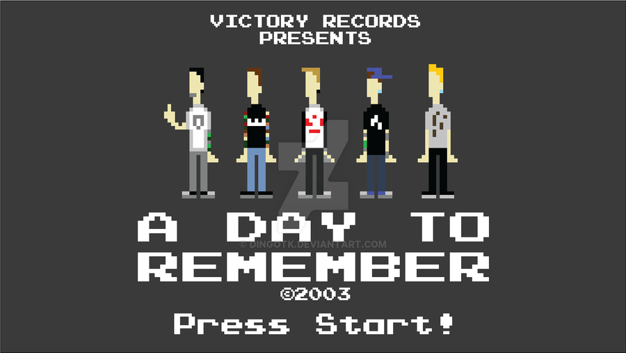 A Day To Remember Pixel Punchers by DingoTK