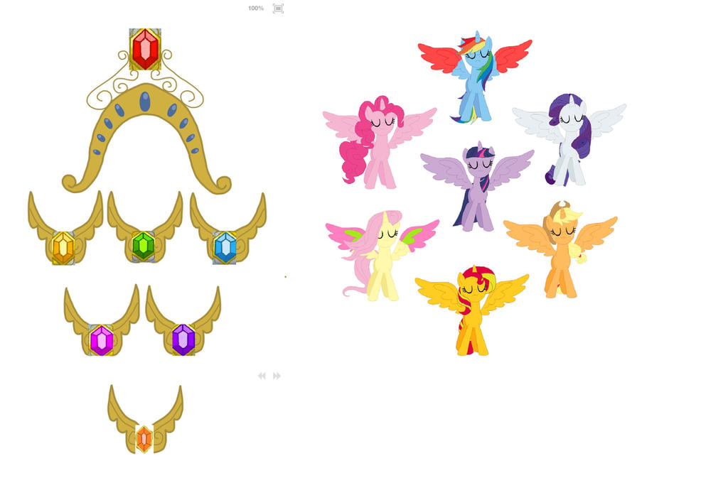 My Little Pony Elements Of Harmony Coloring Pages : Elements of harmony mlp base and crown necklace pictures