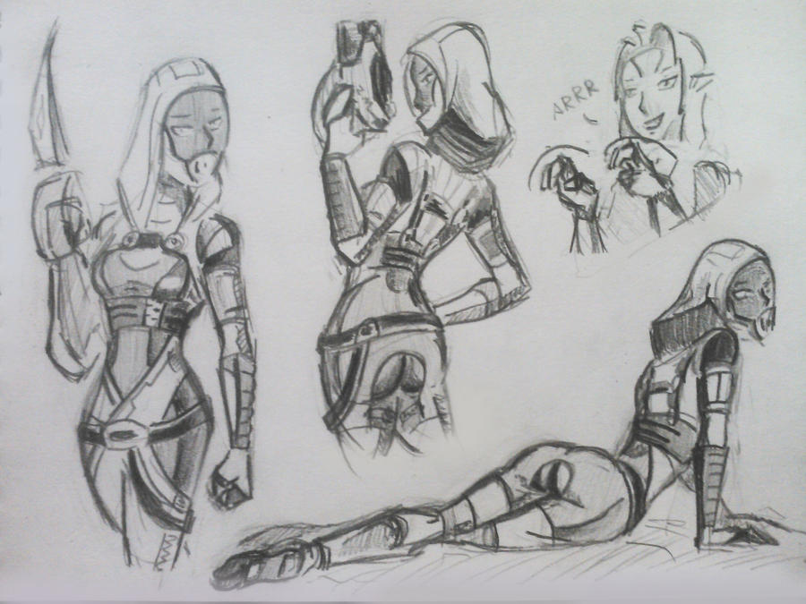 sketches Tali (75) by spaceMAXmarine