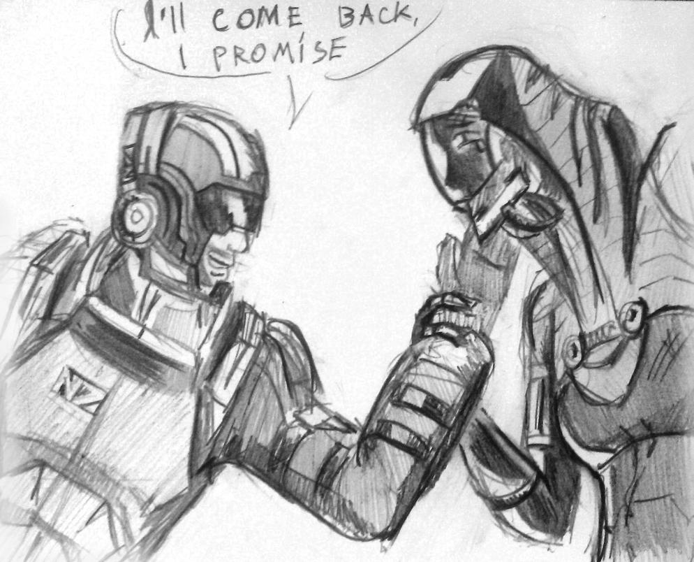 Tali x Shepard (59) by spaceMAXmarine