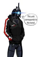 Legion in jacket N7 by spaceMAXmarine