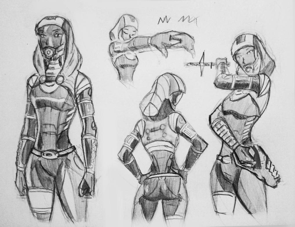sketches Tali (112) by spaceMAXmarine