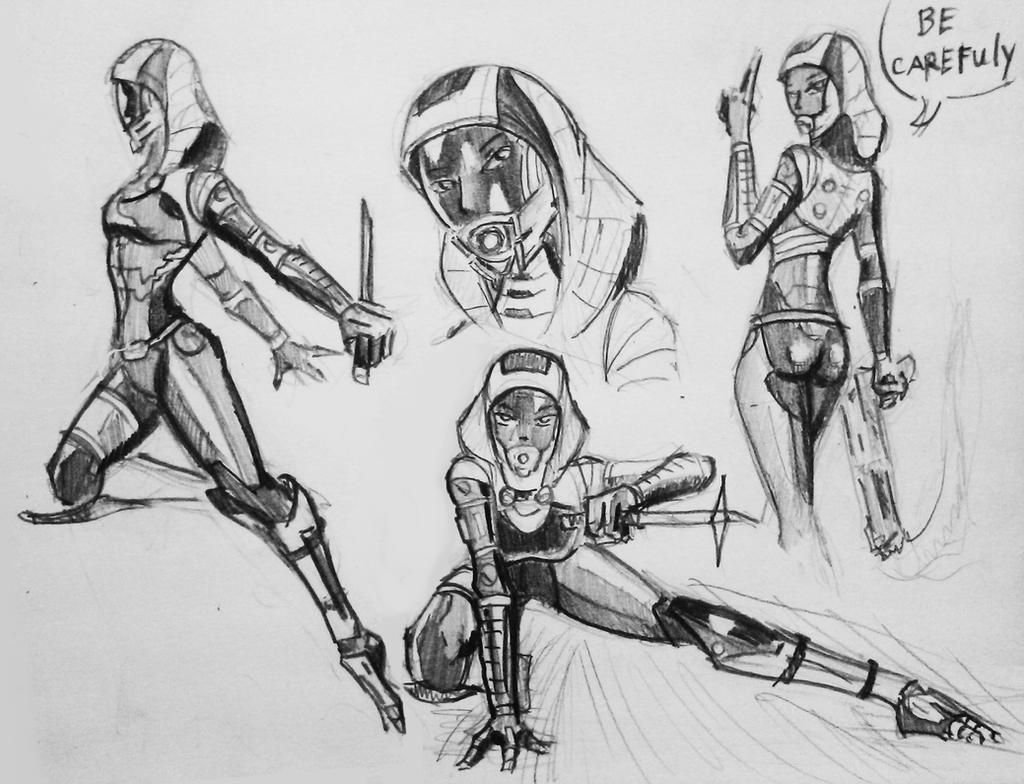 sketches Tali (115) by spaceMAXmarine