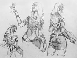 sketches Tali (134) by spaceMAXmarine