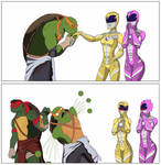 Turtles meet rangers