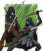 Tali Witcher vs Nightingale Tali by spaceMAXmarine
