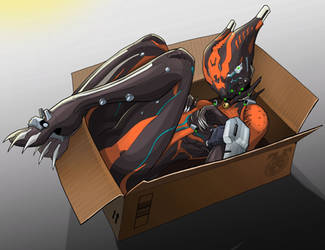 Valcat and box (HD) by spaceMAXmarine