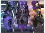Tali x3 back view by spaceMAXmarine