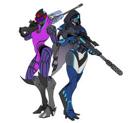 Tali - Widowmaker n Tali - Nova by spaceMAXmarine