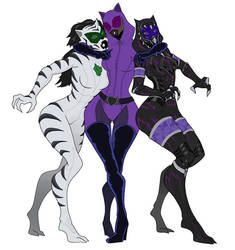 Tali - White tiger / Catwoman / Black panther by spaceMAXmarine