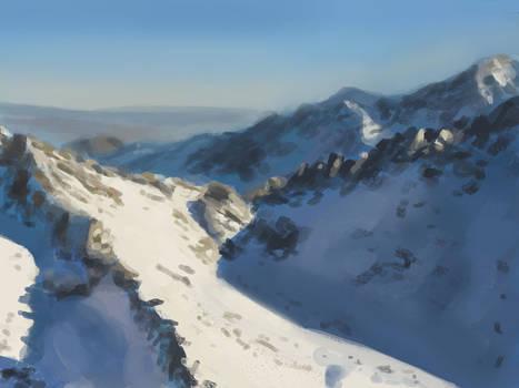 Snow Landscape speed painting