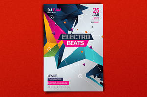 Electro Beats Party Flyer by satgur