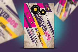 Forever 80s Retro Party Flyer by satgur