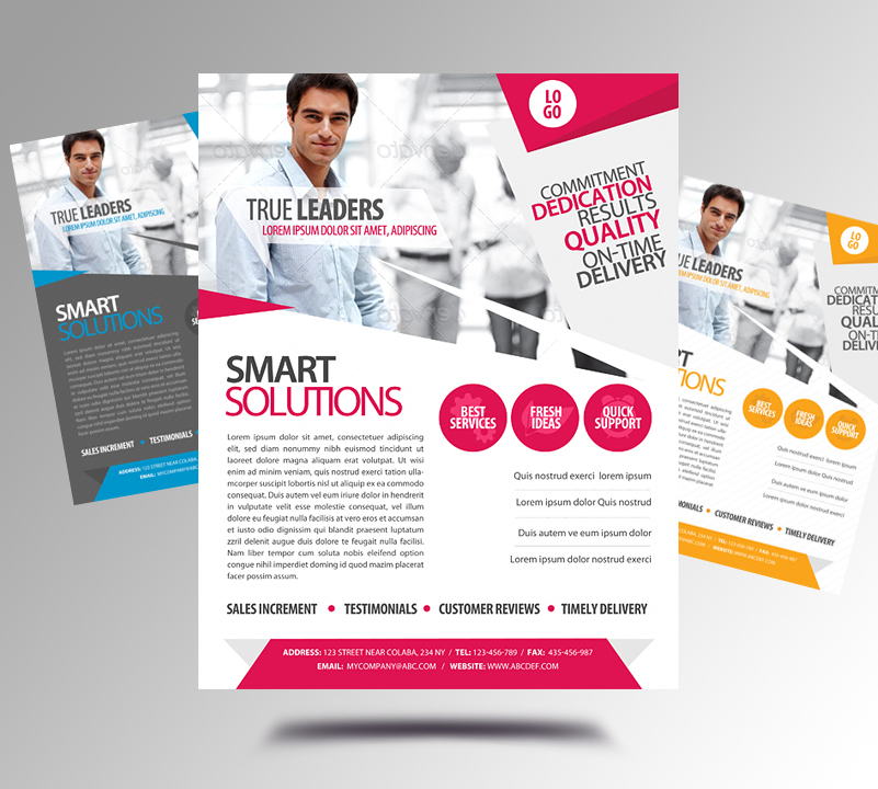 corporate newsletters email blasts and flyers on
