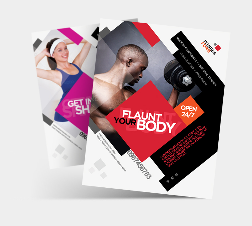 Fitness Gym Business Promotion Flyer By Satgur ...