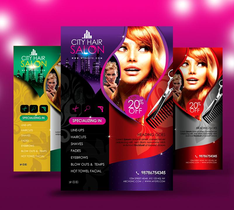 City Hair Salon Flyer V2 by satgur on DeviantArt – Hair Salon Flyer Template