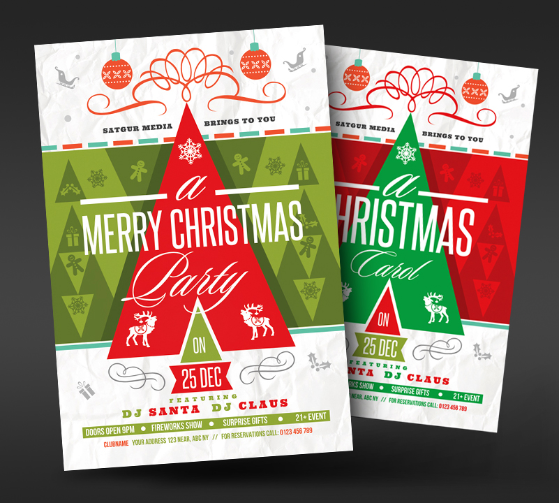 Christmas New Year Party Flyer by satgur