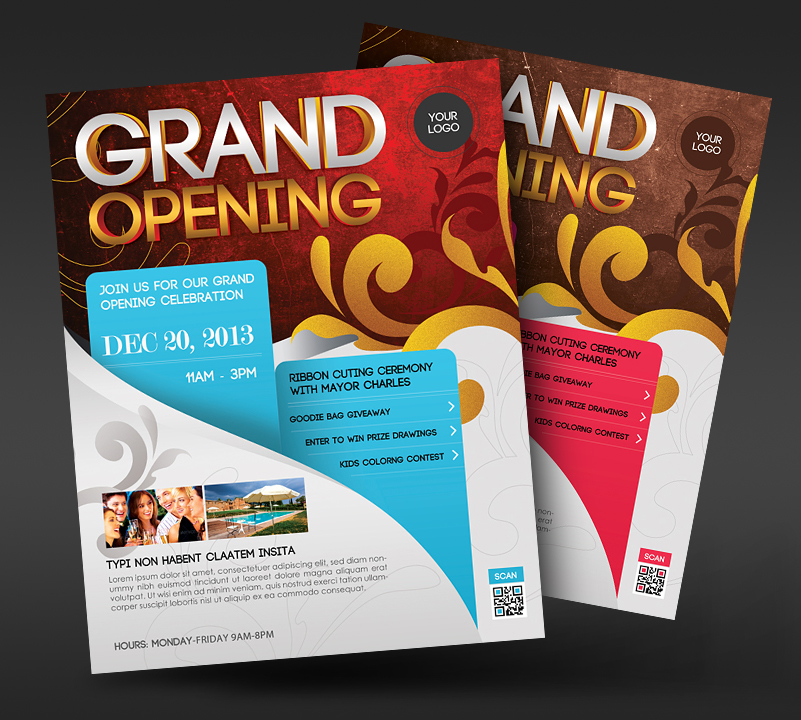 Grand opening event flyer by satgur on deviantart for Grand opening flyer ideas