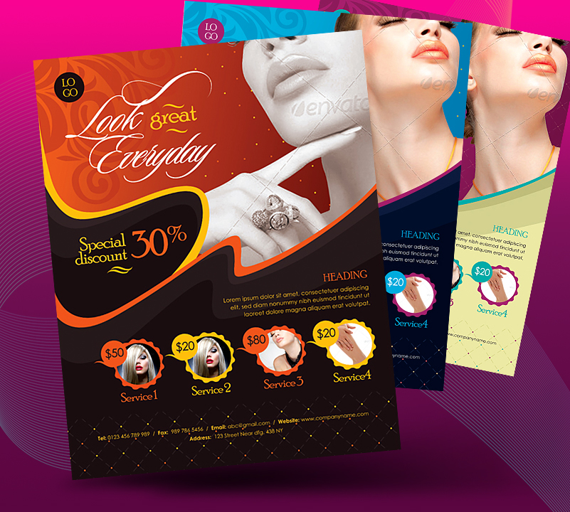 Beauty Salon Business Promotional Flyer By Satgur