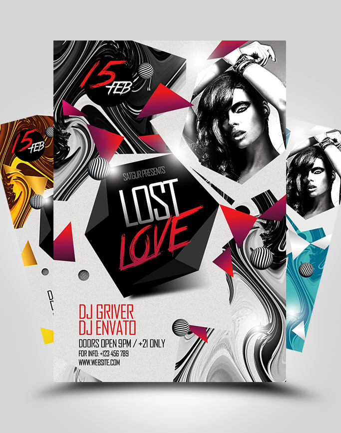 Lost Love Party Flyer Template By Satgur On Deviantart