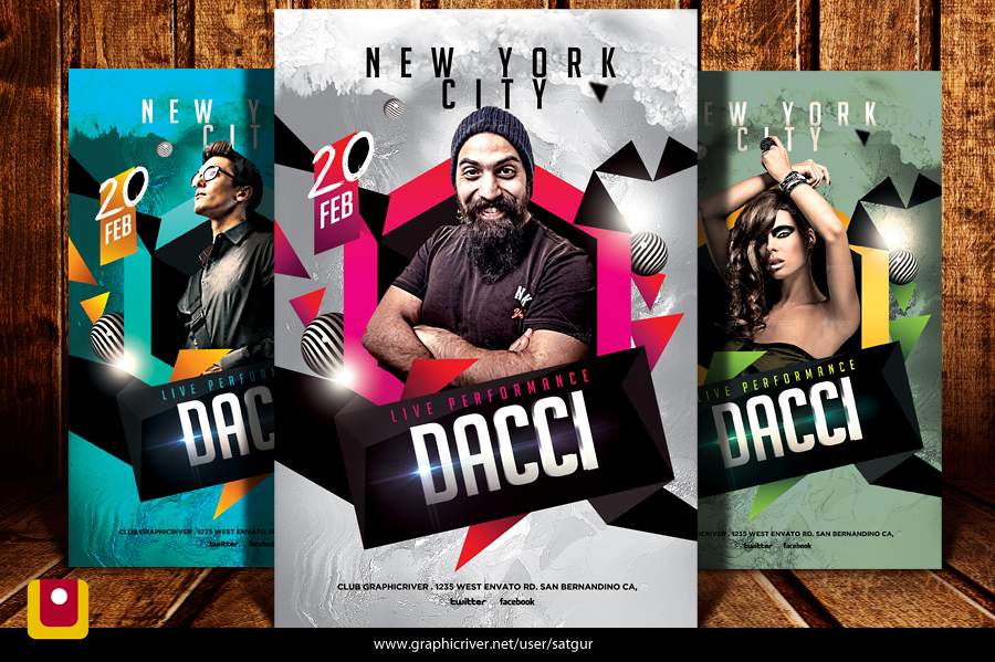 Electro House Dj Flyer Template By Satgur On Deviantart