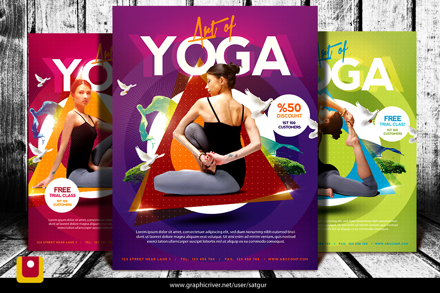 Simple Yoga Flyer Template V3 By Satgur On Deviantart
