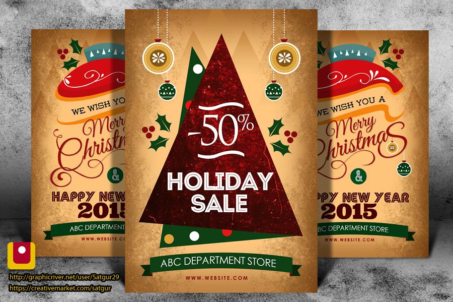 Christmas flyer / xmas flyer / New year Eve by satgur