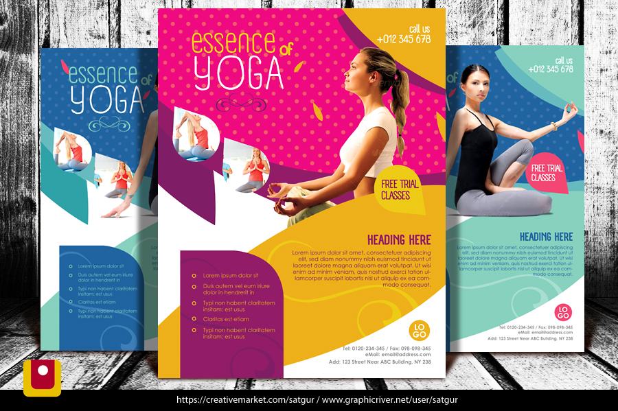 YogaflyerFitnessFlyer By Satgur On Deviantart