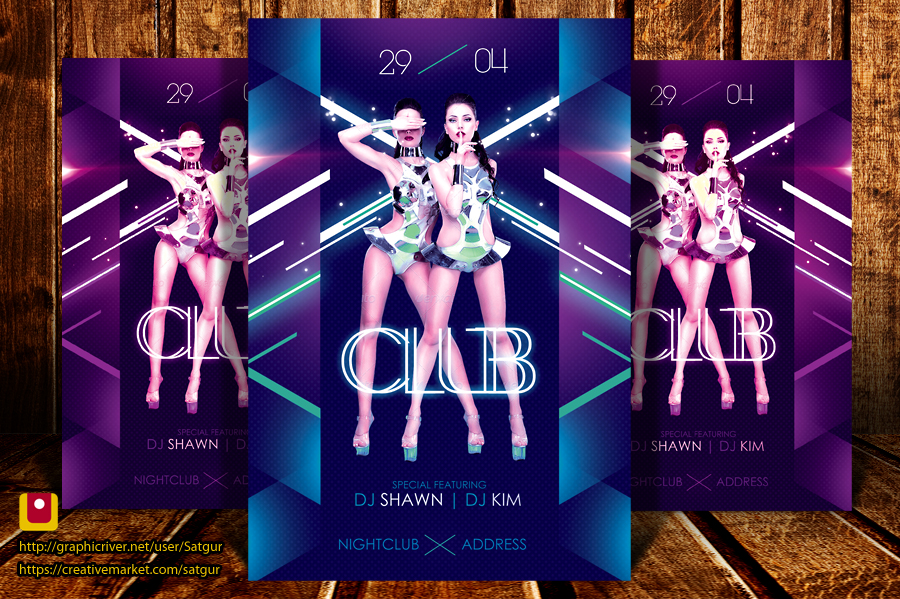 In Da Club Party Flyer Template PSD by satgur