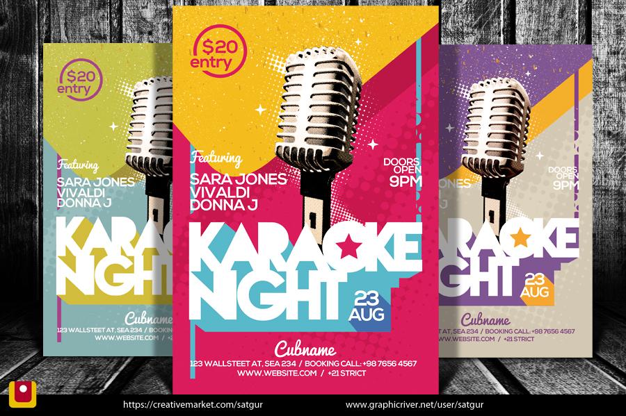 Karaoke Night Flyer by satgur