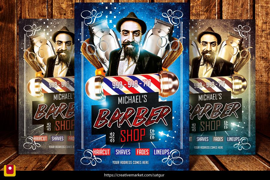 Barbershop flyer by satgur